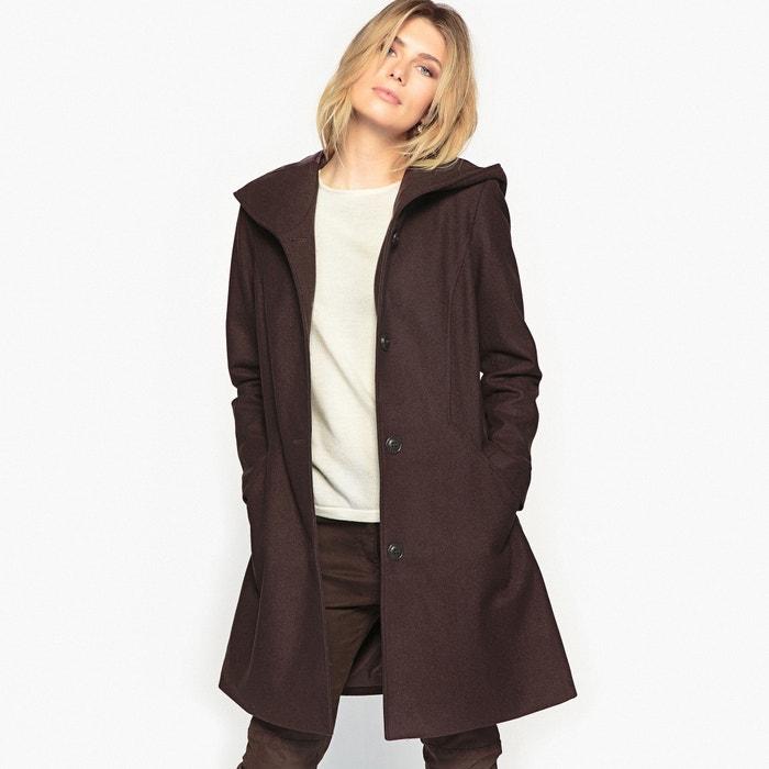 Image Manteau à capuche, laine majoritaire ANNE WEYBURN
