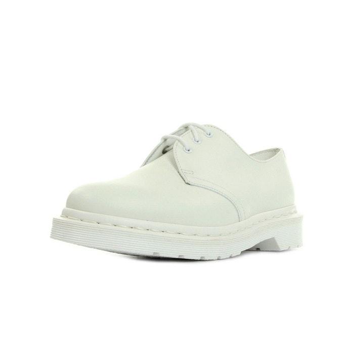 1461 mono white smooth blanc Dr Martens Real Vente Pas Cher kh0ykvqX8