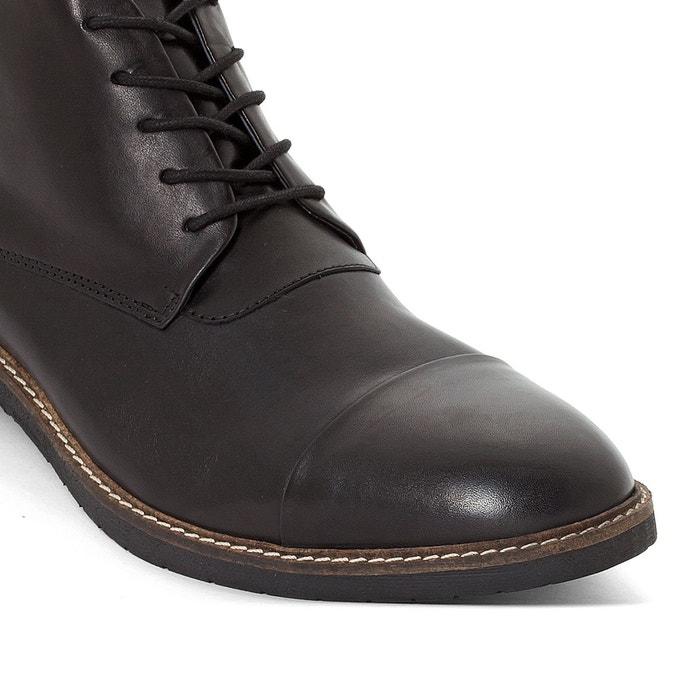 Boots cuir mateo noir Kickers