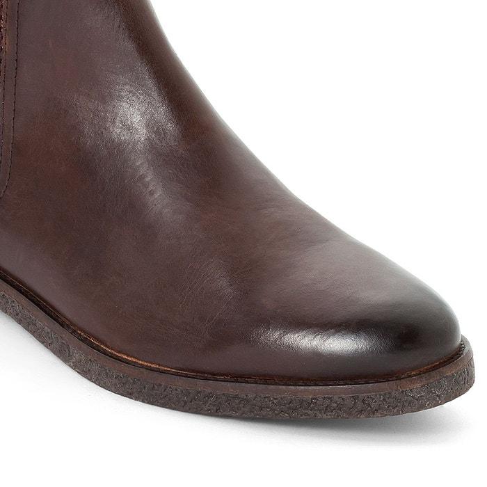Chealsa boots cuir ferdinand marron Base London