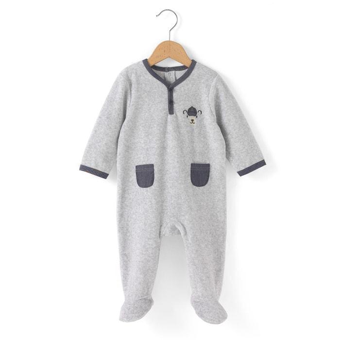Image Pyjama velours 0 mois-3 ans R mini