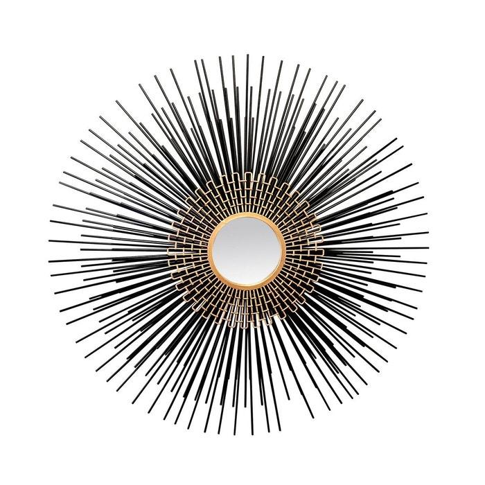 miroir soleil 100cm noir emde premium la redoute. Black Bedroom Furniture Sets. Home Design Ideas