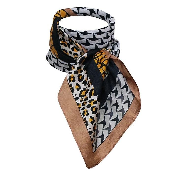 Foulard hôtesse léopard marron Chapeau-Tendance   La Redoute c627a2c8f8f