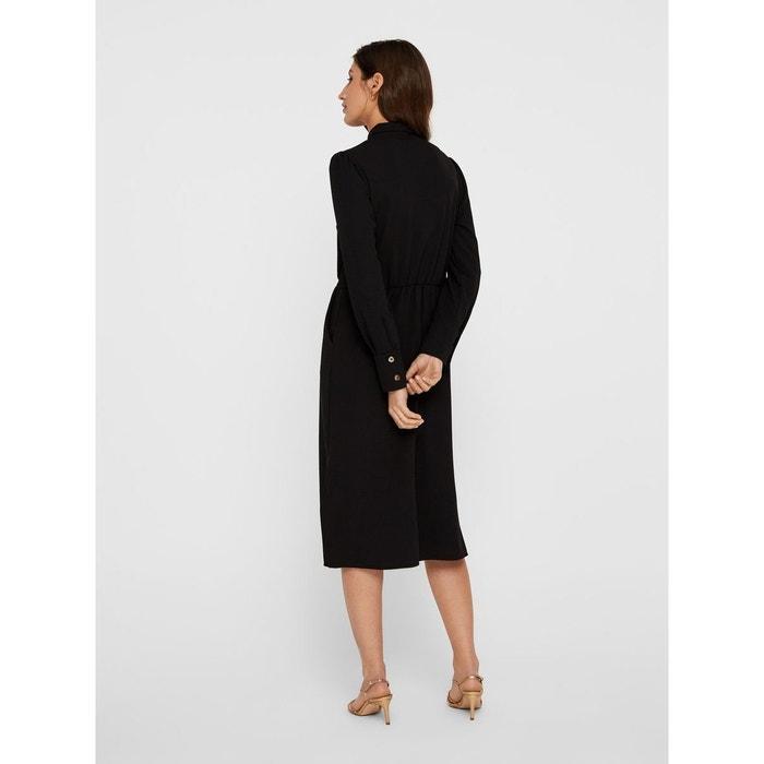ba957cc180aa3 Robe-chemise mi-longue black Yas   La Redoute