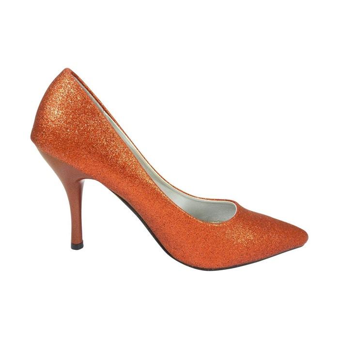 Chaussures mariage femme à strass paillettes rouge Chaussmaro