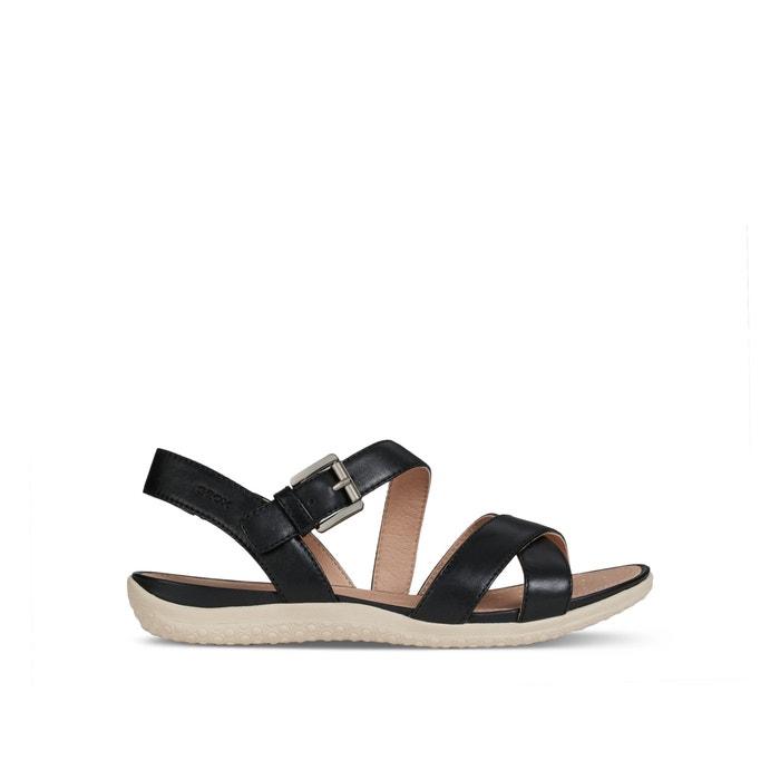 8b4bd1e5 Sandalias transpirables de piel vega negro Geox | La Redoute