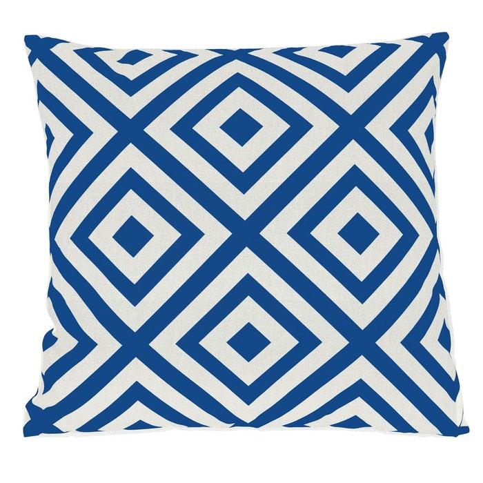 coussin g om trique bleu bleu rendez vous deco la redoute. Black Bedroom Furniture Sets. Home Design Ideas