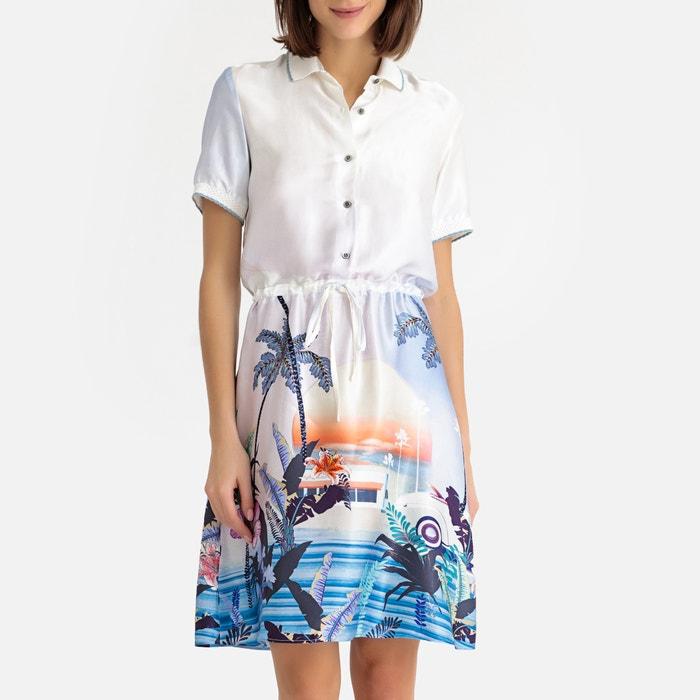 436058fcc94 Платье с рисунком и короткими рукавами kelly разноцветный Paul   Joe ...