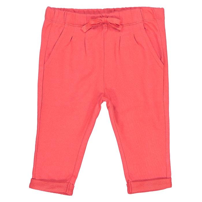 Image Pantaloni in tessuto felpato tinta unita da  1 mese a 3 anni Oeko Tex La Redoute Collections