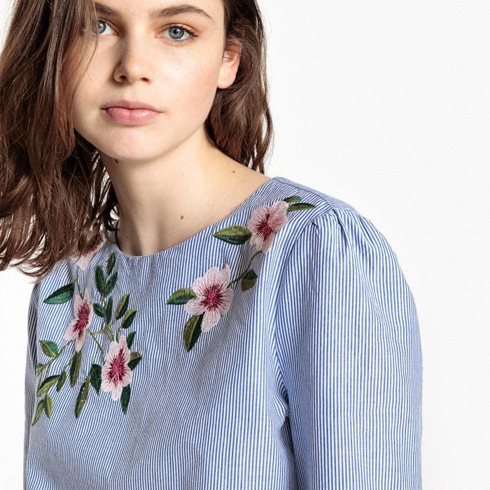 estampada manga Blusa ESPRIT redondo larga cuello fqzYBwU