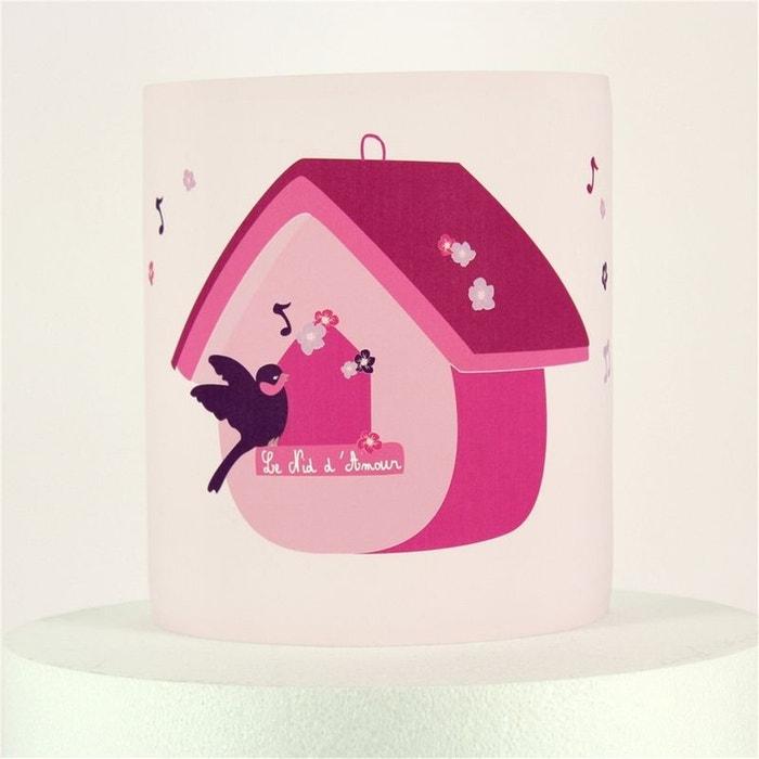 applique nichoir oiseau rose rose lilipouce la redoute. Black Bedroom Furniture Sets. Home Design Ideas