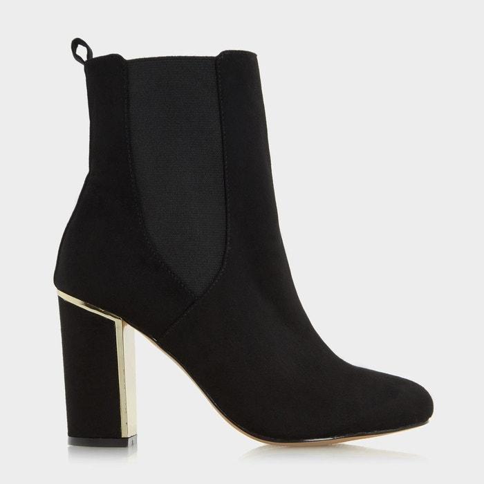 Metallic heel insert chelsea boot - odilia  noir micro fibre Head Over Heels By Dune  La Redoute