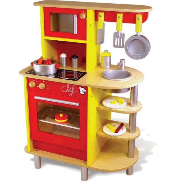 cuisinière en bois : la cuisine du chef vilac   la redoute