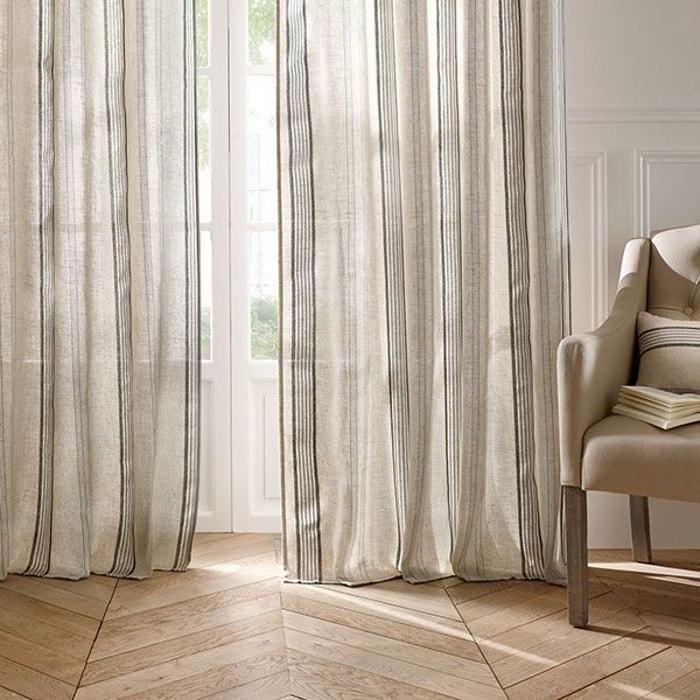 rideau esprit maison de campagne lin home maison la redoute. Black Bedroom Furniture Sets. Home Design Ideas