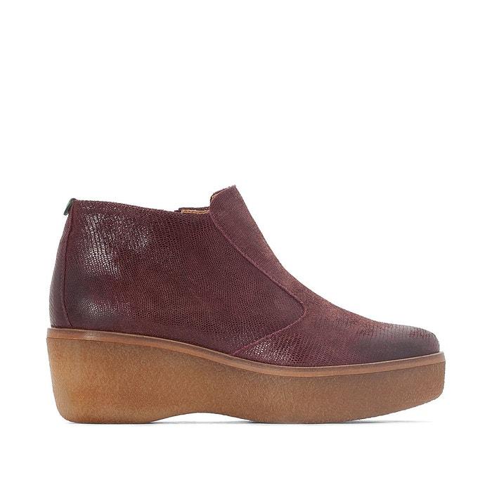 Boots cuir prince   bordeaux Kickers   La Redoute