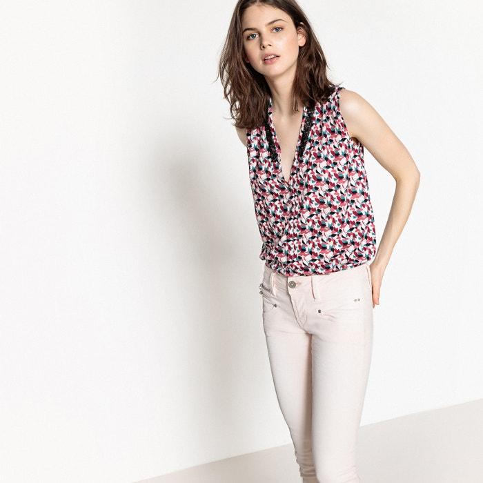Blusa com decote em V, estampado camuflagem, sem mangas  FREEMAN T. PORTER image 0