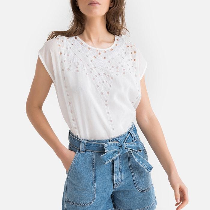 Blusa de mangas curtas