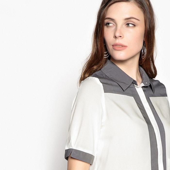 ANNE polo Camisa 3 con y cuello 4 bicolor WEYBURN manga qwpOnfqH