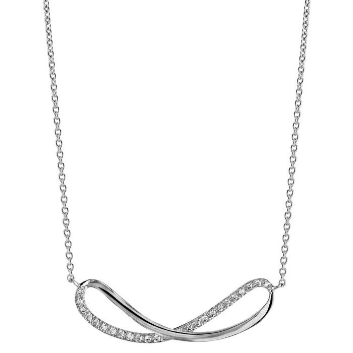 Collier longueur réglable: 40 à 44 cm symbole infini forme 8 oxyde de zirconium blanc argent 925 couleur unique So Chic Bijoux | La Redoute Confortable Vente En Ligne cvY0juX