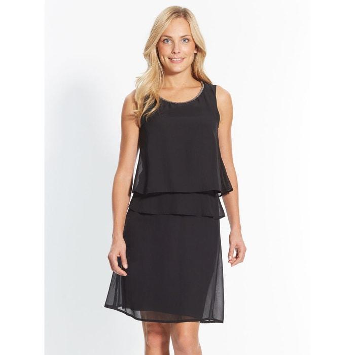 robe sans manches effet 2 en 1 noir crealine la redoute. Black Bedroom Furniture Sets. Home Design Ideas