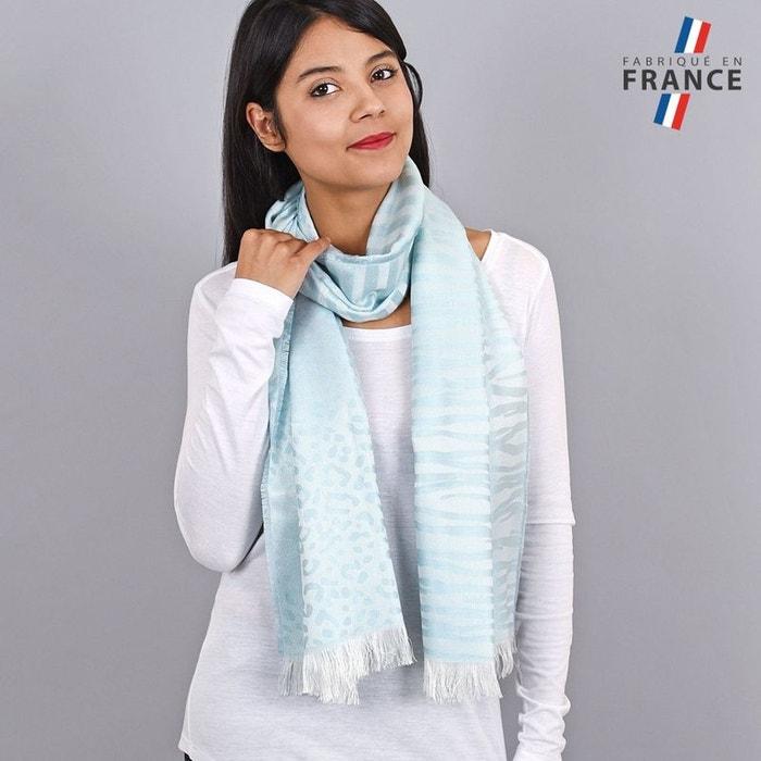 Echarpe légère bauduen turquoise - fabriqué en france bleu Qualicoq   La  Redoute 706f17318d0