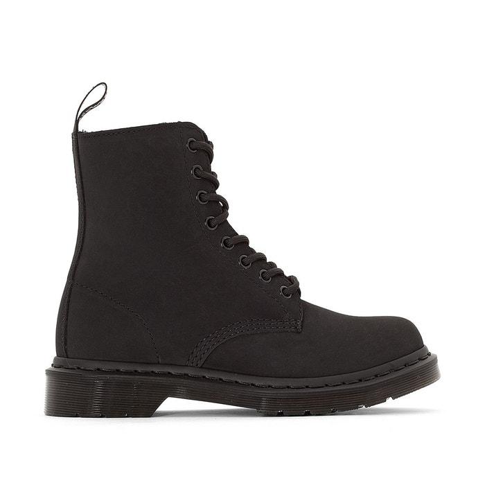 3920907f55eb Boots en cuir à lacets pascal noir Dr Martens