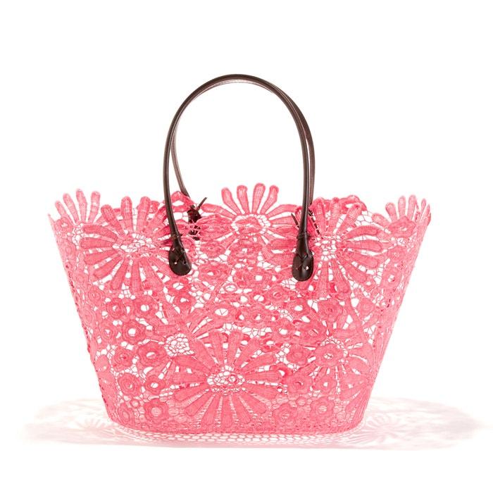 Shopper mit floralem Spitzen-Muster  La Redoute Collections image 0