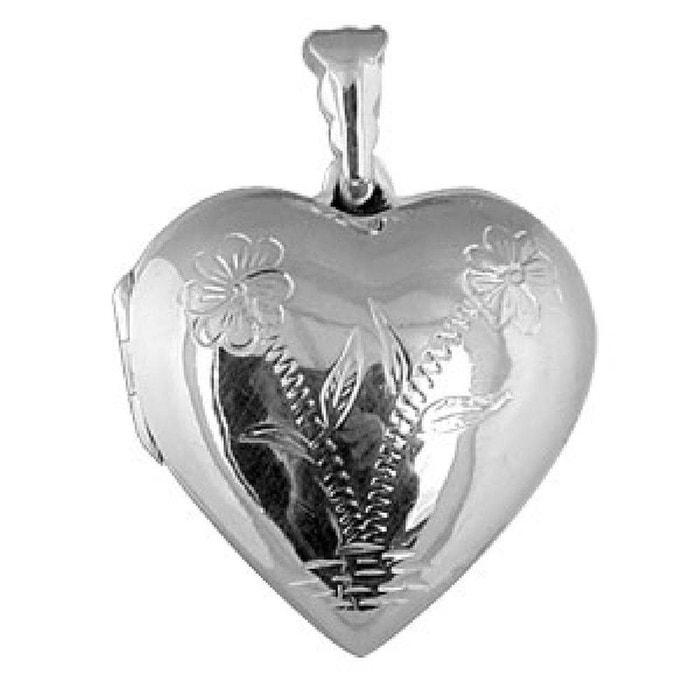 Grand pendentif coeur porte photo cassolette décoré fleurs argent 925 couleur unique So Chic Bijoux | La Redoute Vente Meilleure Vente xRLoBFS0Nz