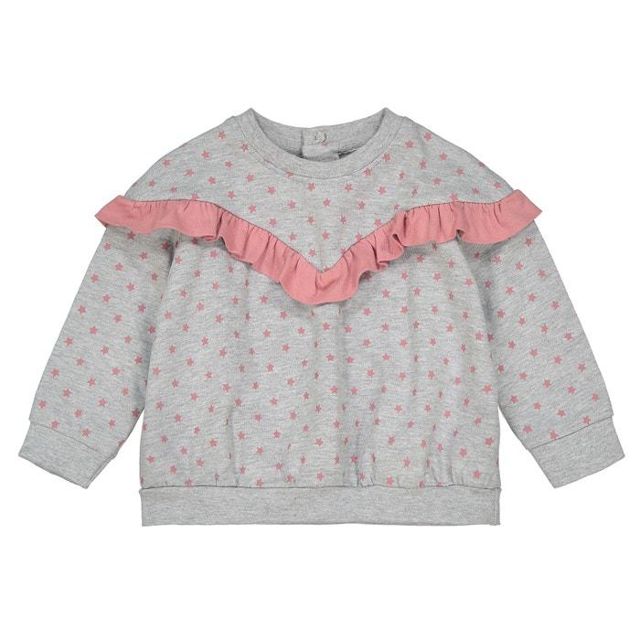 5c892bd2e16a Star print ruffled sweatshirt