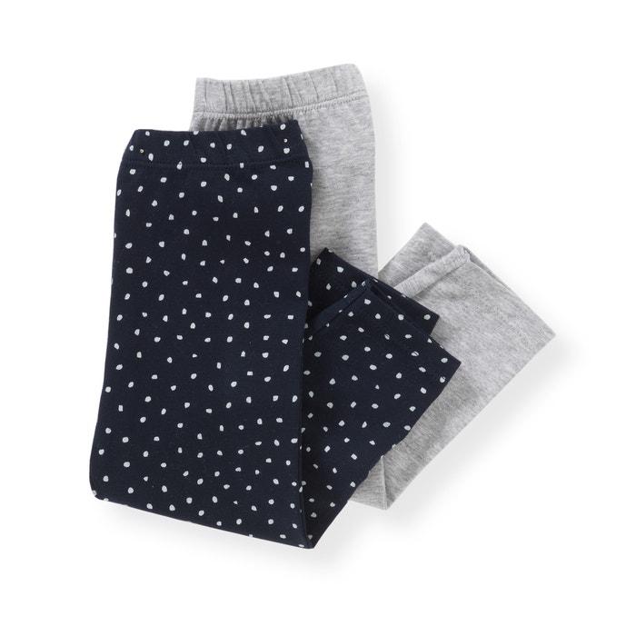 Image Legging en coton 1 mois-3 ans (lot de 2) La Redoute Collections