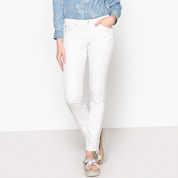 Slim Fit Jeans with Contrast Side Stripes  IKKS image 0