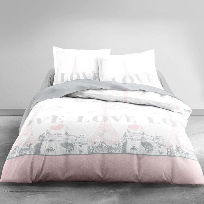 parure de lit paris rose 220 x 240 cm couleur unique lefranc bourgeois la redoute. Black Bedroom Furniture Sets. Home Design Ideas