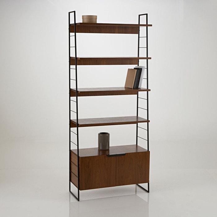 Tag re acier et noyer vintage h190 cm watford noyer - La redoute meuble bibliotheque ...