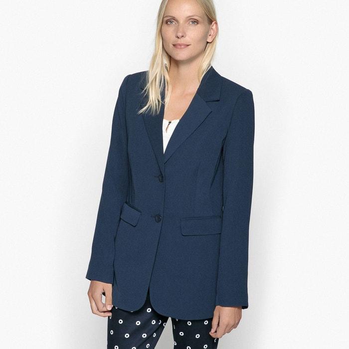 915ef01177f1c Veste blazer, cintrée, sergé fluide Anne Weyburn | La Redoute