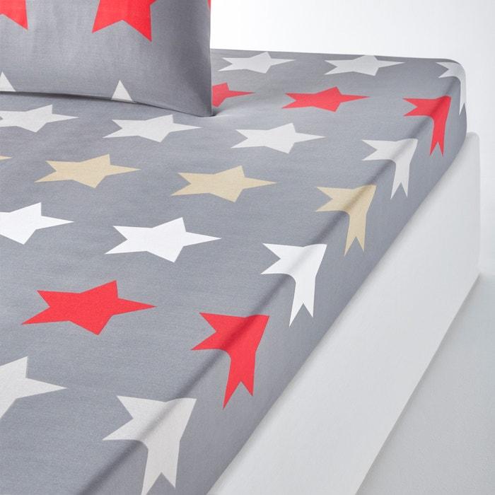 afbeelding Bedrukt hoeslaken STARS, antraciet La Redoute Interieurs