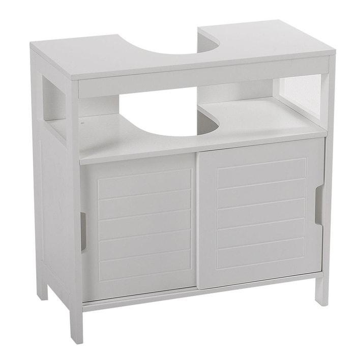 Meuble sous lavabo aqua 30 x 60 cm blanc blanc Instant D O
