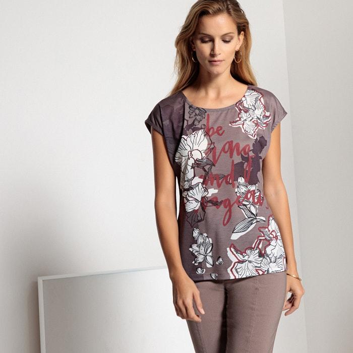T-shirt fantasia, morbida maglia, due tessuti  ANNE WEYBURN image 0