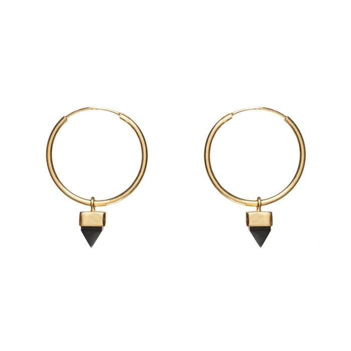 Site Officiel Vente Boucles d'oreilles créoles equinoxe dorées à l'or fin Sestra   La Redoute Magasin De Destockage Pour La Fourniture LPjQ1wI