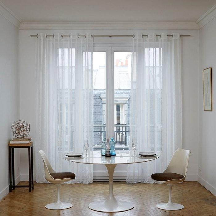 voilage oeillets polyester paros gris clair madura la. Black Bedroom Furniture Sets. Home Design Ideas