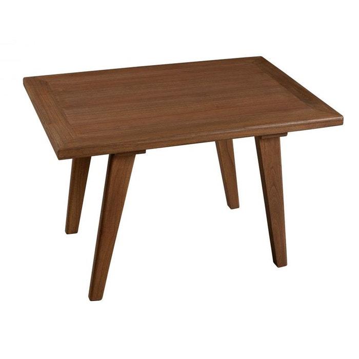 Table d 39 appoint rectangulaire bois 70x50x45 fanny cannelle pier import la redoute - Table bois la redoute ...