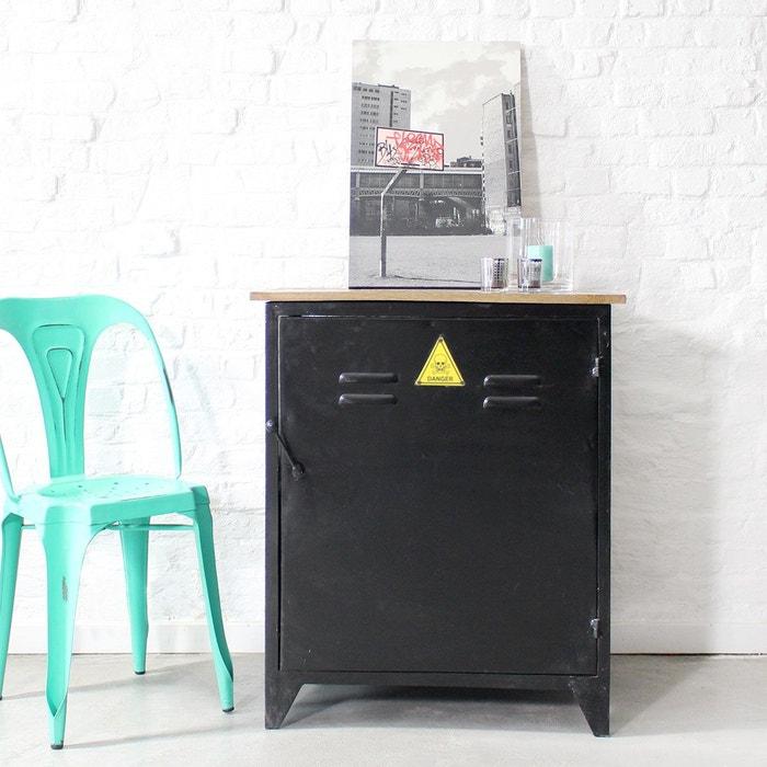 buffet industriel plateau bois massif style casier danger pab8 bois made in meubles la redoute. Black Bedroom Furniture Sets. Home Design Ideas