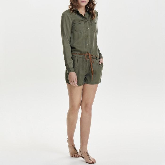 Tuta-shorts stile camicia, maniche lunghe  ONLY image 0