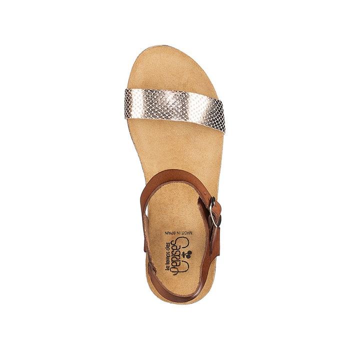 Sandales compensées astrid beige Le Temps Des Cerises