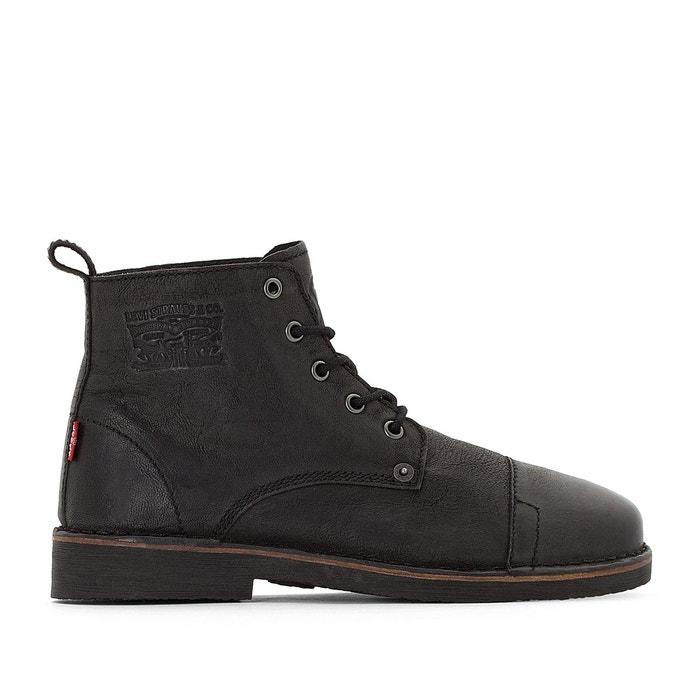 4539f7a9329bd0 Boots cuir track noir Levi's   La Redoute