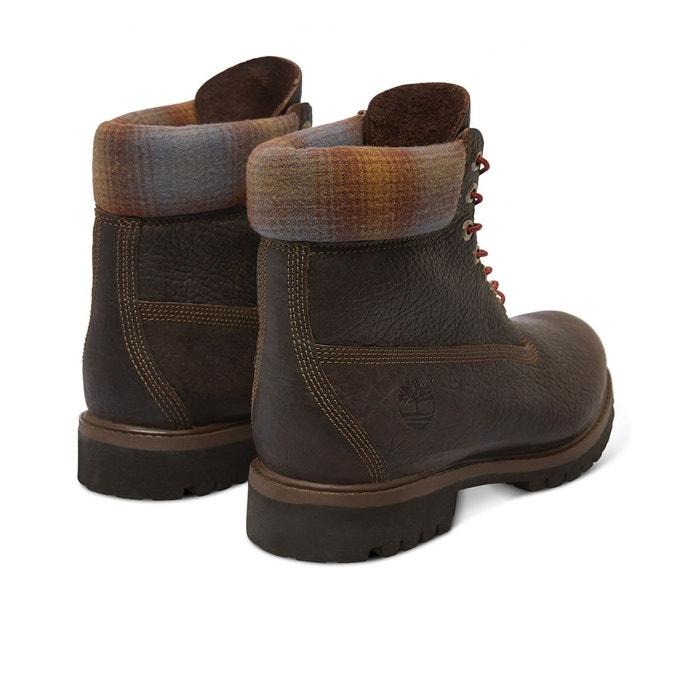 Chaussures 6 in premium bt brown marron et bleu Timberland