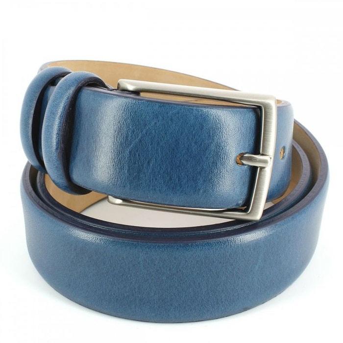 Ceinture cuir, bleu, 35mm bleu Robert Charles   La Redoute