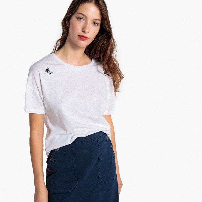 T-shirt maniche corte, ricamo motivo insetti  La Redoute Collections image 0