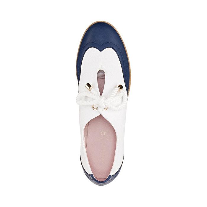 Derbies toile style nautique blanc, marine Mademoiselle R