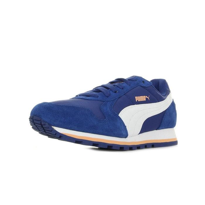 St runner nl clema bleu marine, blanc, orange Puma