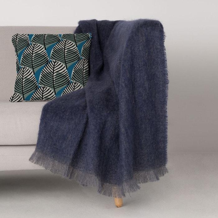 plaid mohair uni bleu marine bleu marine blanc cerise la redoute. Black Bedroom Furniture Sets. Home Design Ideas